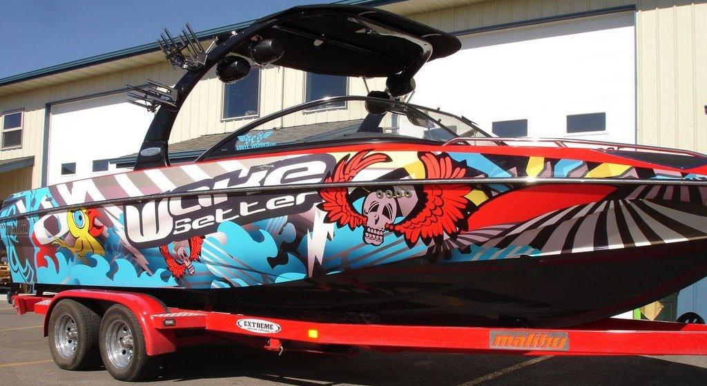 The Full Wakeboard Wake Setter Boat Wrap