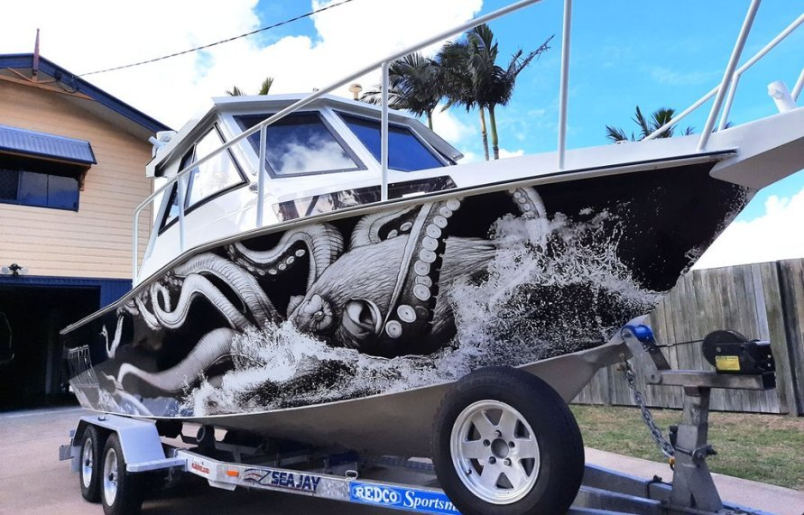 The Octopus Boat Wrap
