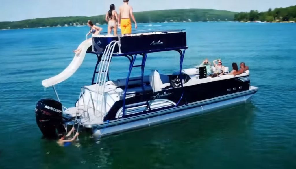 Pontoon Boat with slides